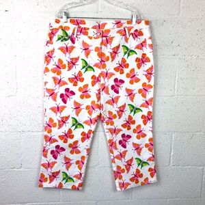 Lilly Pulitzer Butterfly Multicolor Capri Pants